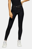 Topshop Indigo Raw Denim Jamie Jeans