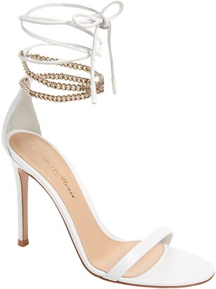 Gianvito Rossi Chain Ankle Wrap Sandal