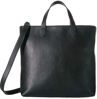 Madewell MW The Zip Top Transport Crossbody (True Black) Handbags