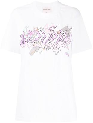 Natasha Zinko Wavey print oversized T-shirt