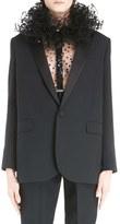 Saint Laurent Women's One-Button Tuxedo Jacket