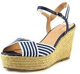 Nine West Breeze Women US 11 Blue Wedge Sandal