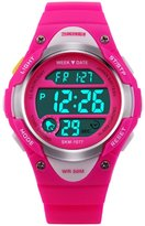 Siniya Kids Boy Girls LED Digital Children Watch Outdoor Sports Waterproof watch