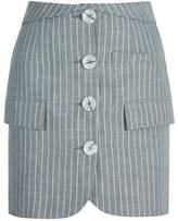 MYBESTFRIENDS - Button Detail Mini Skirt With Pockets