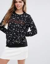 Pieces Lita Rockstar Print Sweater