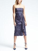 Banana Republic Piece & Co. Strapless Twist-Front Midi Dress