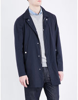 Brunello Cucinelli Collared Wool And Silk-blend Raincoat