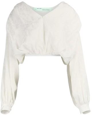 Off-White Logo cropped shirt