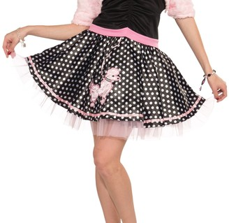 Forum Novelties Inc. Forum Novelties Women's Plus-Size Flirting with The 50's Deluxe Poodle Skirt