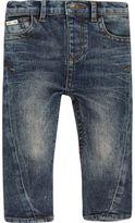 River Island Mini boys blue wash seam jeans