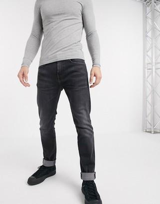Edwin ED80 slim fit jeans in washed black denim