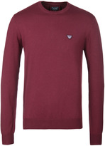 Armani Jeans Bordeaux Crew Neck Sweater