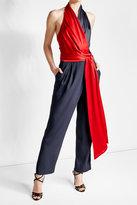 Diane von Furstenberg Crepe Faux Wrap Jumpsuit