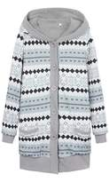 Buckdirect Worldwide Ltd. Women Warm Hooded Long Sleeve Botton Fur Coat