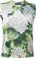 Dolce & Gabbana hydrangea print tank top - women - Silk/Cotton/Cashmere - 46