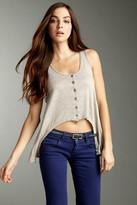 True Grit Haute Heather Knit Button Front Vest