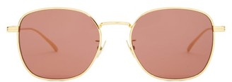 Bottega Veneta Round Metal Sunglasses - Gold