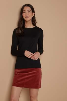 Next Womens Black Long Sleeve Weekend T-Shirt - Black