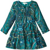 Pink Chicken Penelope Dress (Toddler/Kid) - Teal Scarf Print - 5 Years