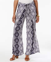 Style&Co. Style & Co Wrap-Front Printed Pants, Created for Macy's