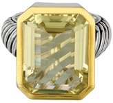 Phillip Gavriel 18k Gold & Sterling Silver Lemon Quartz Ring, Size 8
