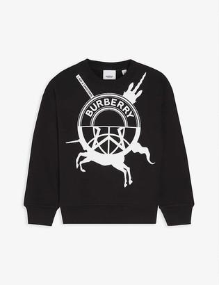 Burberry Logo-print cotton-jersey sweatshirt 4-14 years