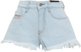Diesel De-Rifty Frayed Denim Shorts