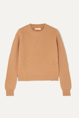 &Daughter Inver Ribbed Merino Wool And Cashmere-blend Sweater - Camel