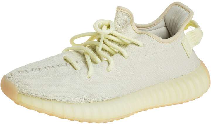 Yeezy x adidas Green Knit Fabric Boost 350 V2 Butter Sneakers Size 40