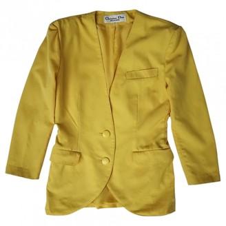 Christian Dior Yellow Wool Jackets