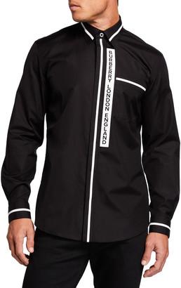 Burberry Men's Croyde Logo-Placket Sport Shirt