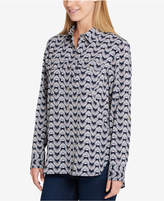 Tommy Hilfiger Core Printed Roll-Tab Shirt, Created for Macy's