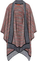 Missoni Crochet-knit Wool-blend Wrap - Navy