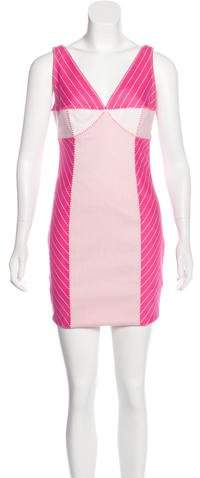 Christian Dior Striped Sheath Dress