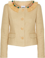 Moschino Cheap & Chic Moschino Cheap and Chic Embellished woven cotton-blend jacket