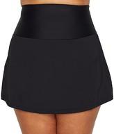 Leilani Plus Size Waikiki Solids Skirted Bikini Bottom