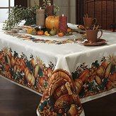 Benson Mills Harvest Splendor Engineered Printed Fabric Tablecloth, 60-Inch-by-120 Inch