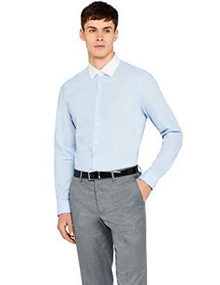 Hem & Seam Men's Slim Fit Contrast Collar Formal Shirt,52 (size: 16) Large