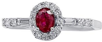 Diana M Fine Jewelry 18K 0.81 Ct. Tw. Diamond & Ruby Ring