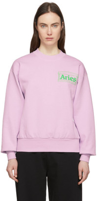 Aries Purple Y2K Sweatshirt