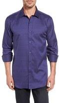 Bugatchi Men's Classic Fit Square Dot Sport Shirt