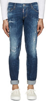 DSQUARED2 Blue Slim Distressed Jeans
