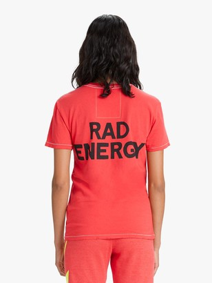 Aviator Nation Rad Energy Crew Tee - Neon Red