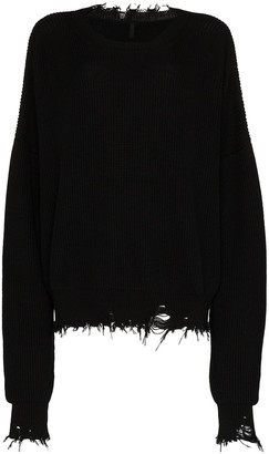 Unravel Project Distressed Oversized Knit Jumper