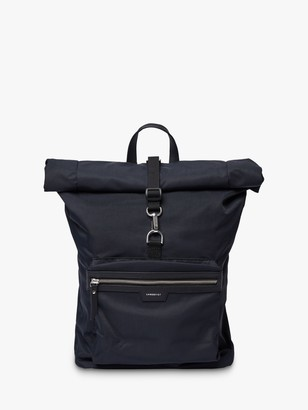 SANDQVIST SIV Recycled Roll Top Backpack, Black