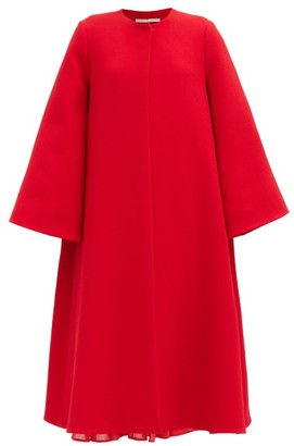 Emilia Wickstead Alyena Single-breasted Crepe Opera Coat - Red