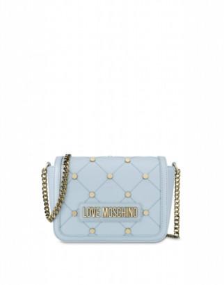 Love Moschino Clutch With Stars Woman Blue Size U It - (one Size Us)