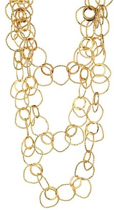 Sylvia Toledano Nebuleuse Triple Layer Hammered Ring Necklace