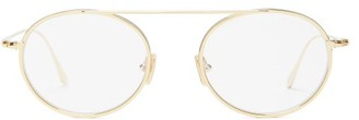 Tom Ford Round Metal Glasses - Gold