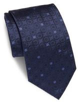 Brioni Floral Embroidered Silk Tie